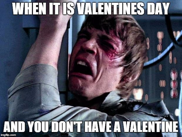 When it is Valentines day And you don't have a valentine