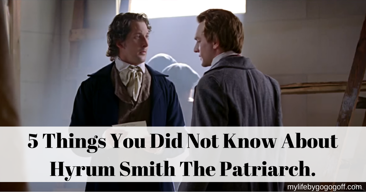 Things I Know About You: 5 Things You Did Not Know About Hyrum Smith The Patriarch