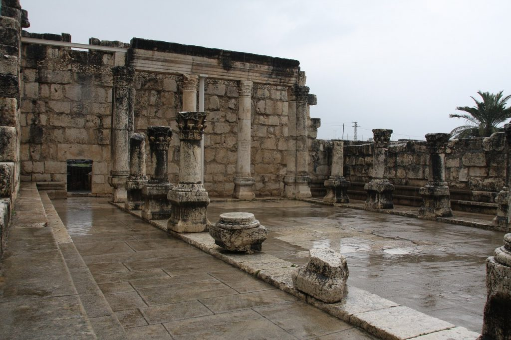 Ruins of Synagogue in Capernaum.